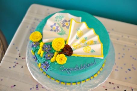 The beautiful cake.