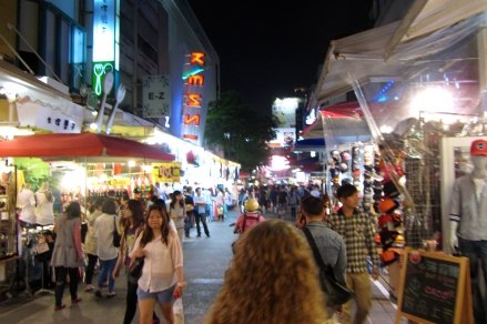 Night market on Easter.