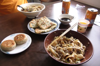 Selections from the shaved noodle place