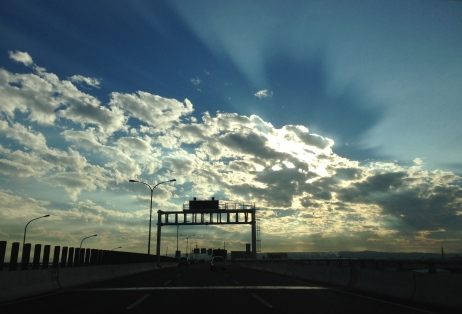A beautiful sky for the drive down.