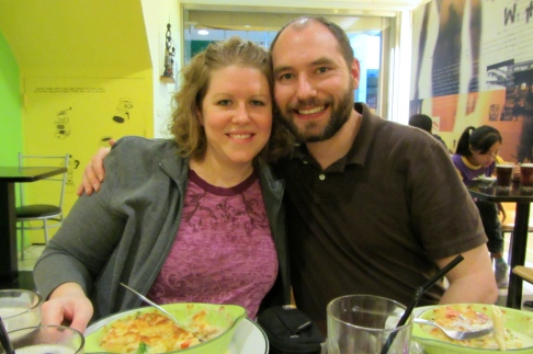 With my hubby at dinner.