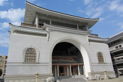 The new temple built around the old temple.