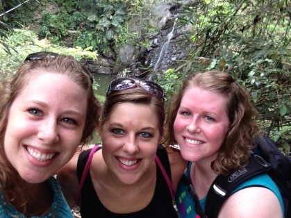 Sisters--and can you see the waterfall behind us?