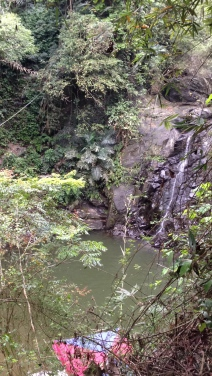 The little waterfall--not much water today.