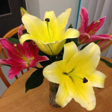 "Beautiful lilies to give the ""smell of Easter."""