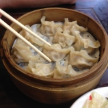 Delicious dumplings (these are pork & shrimp, our favorite).