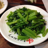 Fried hollow heart vegetable.