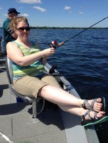 My fishing pose.