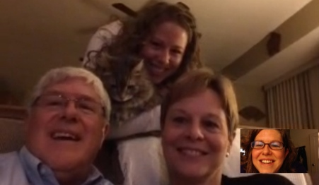 FaceTime with the family in New York