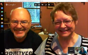 Google Hangout with my wonderful in-laws!