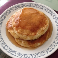 Hubby made pancakes for breakfast (multiple days!).