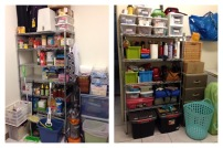 Organized pantry room!