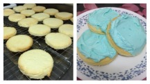 I made sugar cookies for the first time in my life.