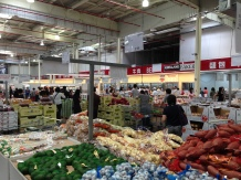 Shopping at Costco--not too busy by Costco standards.