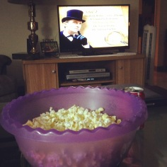 Popcorn and Sherlock Holmes. :)