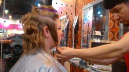 Getting a cut.