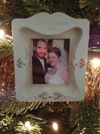 A new ornament to commemorate our wedding.