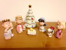 I love Peanuts, and this nativity is just precious.