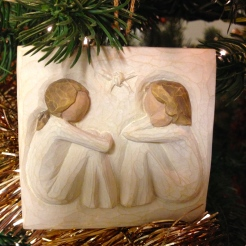 One of my favorite ornaments--from my best friend!