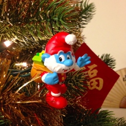 """Hello"" from Santa Smurf."